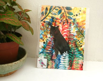 Panther Postcard - Big Cats Postcard - Wildlife - Tropical Safari - Small Wall Art - Stationery - Small Gift