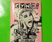 Fall SALE Fall Sale Cyndi Lauper trading cards sealed NEW 1985 dead stock vintage collectible 80s eighties punk glam new wave