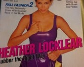 Details 1993 Heather Locklear cover sex issue fashion glam London night life 90s grunge boho