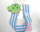 Pacifier clip, pacifier holder, dinosaur pacifier clip, dinosaur baby gift, binky clip, binky holder, baby shower gift, paci clip