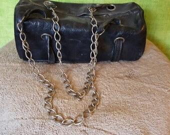 Vintage Leather motorcycle tool bag purse
