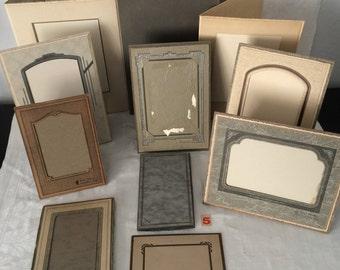 Vintage Cardboard Folding Photo Frames...Lot of 11...Wedding Table Number Holders...Keepsake Photos...Lot #5
