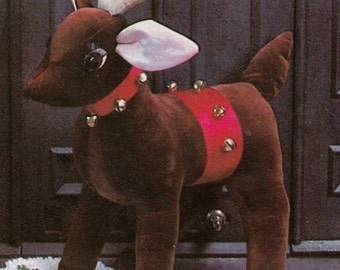 "Vintage 19"" Tall  Stuffed REINDEER SEWING PATTERN Toy~Doll Christmas Pets! e-pattern"