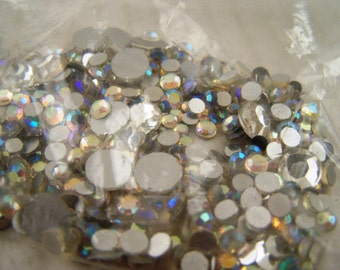 Beading Supplies Bag of Assorted Vintage Rhinestones