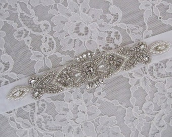 Rhinestone Bridal Sash,Wedding sash,Bridal Accessories,Bridal Belt,Bridal Applique # 105