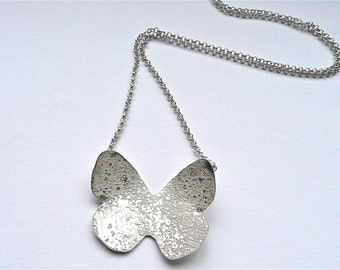 Solo Sterling Silver Butterfly Necklace