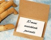 Mini Matchbook Notepads ... Set of 10 Kraft Mini Notepads Small Memo Books Pocket Note Pads Paper Party Favor Shop Promo Bulk Quantity
