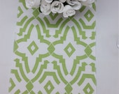 """RTS Lot of 3 kiwi green and white 90 x 12"""" tablerunners, chevelle, Wedding party table runner 633"""