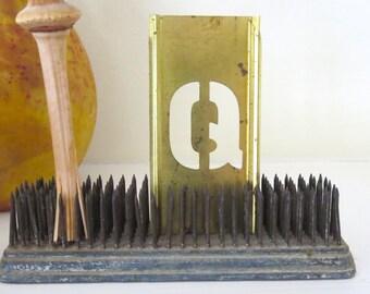 26 vintage zinc signe pochoirs pochoir lettre par. Black Bedroom Furniture Sets. Home Design Ideas