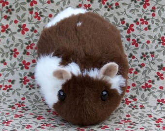 Brown and White Toy Hamster Cute Handmade Plush Toy