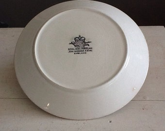 Vintage JohnMaddock & sons semi porcelain ironstone plate England 1906