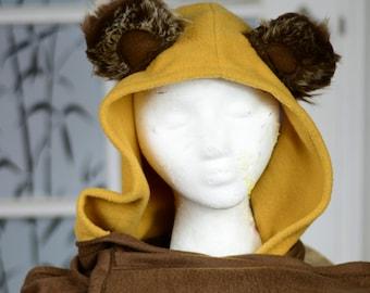 Ewok inspired Hoodie Scarf