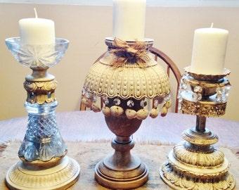 Farmhouse Rustic Pillar Candle Holder Collection