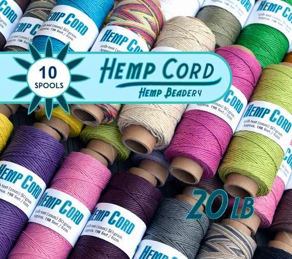 10 Spools Hemp Cord, 198 Feet, Craft Cord, Hemp String, Macrame Jewelry Cord