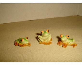 Fairy Garden Resin Frogs/ Single OR Set of 2 OR Set of 3*/Minis/Supplies*