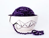 Handpainted 18K Gold Knitting Yarn Bowl