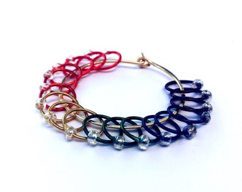 Rainbow Ring Stitch Markers
