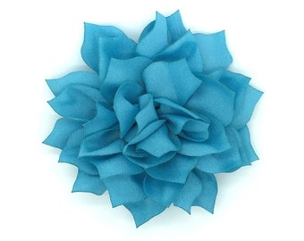 From The Garden Snap-In Dog Bows® Collar Attachment - Turquoise, Therapy Dog Flower, Dog Collar Flower, Dog Accessory, Dog Wedding Flower