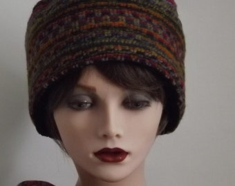 Ladies Multicolored Wool Knitted Fabric Hat