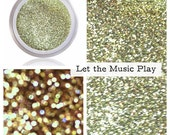 Bright Gold Glitter Makeup | Bright Gold Fine Cosmetic Glitter Pigment | Gold | Let The Music Play | Glitter Sparkle