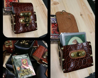 American Made Leather Deck Box- ( Magic the Gathering, Yu-Gi-Oh, Pokemon )