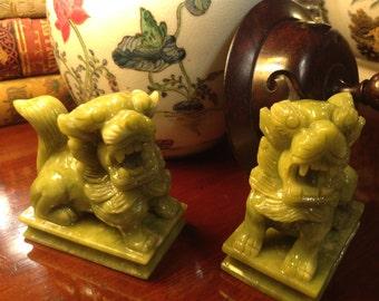 Carved Miniature Foo Dogs
