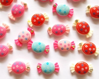 20 pcs Cute Candy Cabochon Flatback Decoration Size 19mm X 24mm