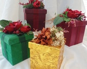 Decorated Gift Boxes Christmas Gift Wrap Gift Giving Home Decor SALE