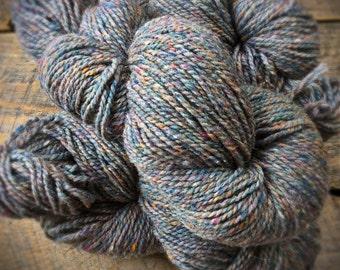 Peace Fleece, knitting yarn, worsted weight  200 yards, Zarya Fog