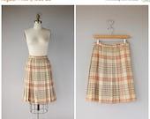 25% OFF SALE... Vintage Wool 50s Skirt | 1950s Wool Skirt | Knee length Skirt | Vintage Plaid Skirt | 50s