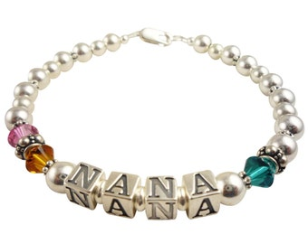 Shop our huge selection of Nana bracelets, Grandma, Mother , Mimi. In many colors, all sizes, your custom personalization