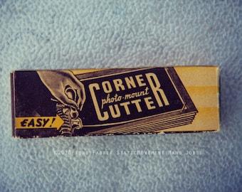 Old Photo Corner Cutter Box Original Art Photograph by KunstFabrik