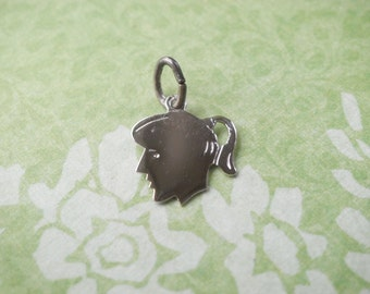 SMALL Vintage Griffith Sterling Little Girl Petite Charm