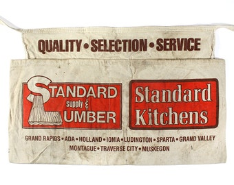 Vintage Hardware Store Apron - STANDARD SUPPLY & LUMBER