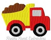 Dump Truck Mini Machine Embroidery Design