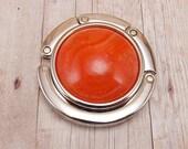 Folding Purse Hanger - Handbag Hook - Marbled Orange