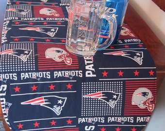 Patriots Table Runner 36 Inch Reversible Blue Stars Table Runner NFL Runner New England Patriots Table Runner Patriots Fan Gift Football