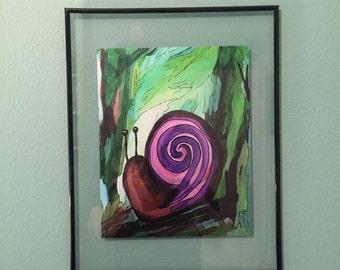 Suspious Snail - Digital Art Print