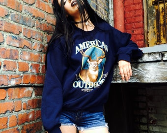 Vintage American Outdoors Deer Sweatshirt Crewneck Pullover