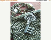 Clearance Sale Lady Chatelaine - Upcycled Antique Victorian Mesh Coin Purse Necklace