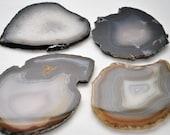 Agate Coasters - Set of Four Premium Brazilian Agate Slabs