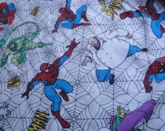 Vintage Spider Man Twin Flat Sheet 1995