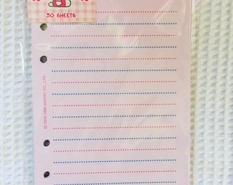 "Hello Kitty / Sanrio Stationery Memo Refill Pages 3.75""x6.75"" - RARE, Fits LV MM agenda"