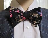 Pink Flamingo Bow Tie