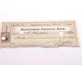 Antique Check 1873