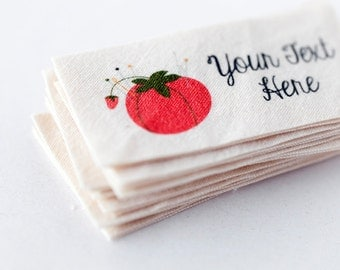 Custom Fabric Labels - Sewing Logo Tags with Hand Drawn Graphics