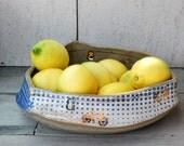 large serving  bowl handmade pottery OOAK fruit bowl ceramic bowl