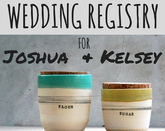 canister set - WEDDING REGISTRY for Joshua Darling and Kelsey Miles