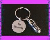 Fit mummy keyring mom into fitness gift mum fitness keychain 3D running shoe keyring Fit Mummy PT Fit Mummy personal training UK