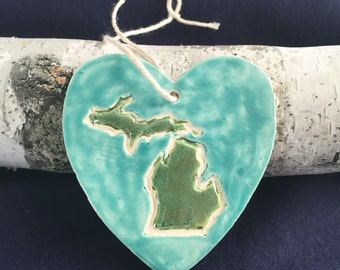 Michigan Heart Ornament